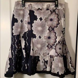 Anthropology Odille Cotton Lined Full Skirt